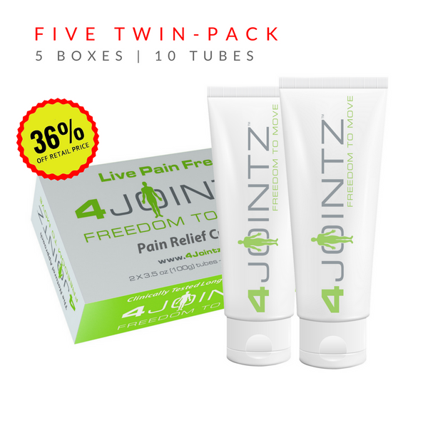 05 Five Twin-Packs | 4JOINTZ® Joint Pain Relief Cream