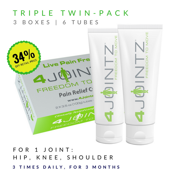 03 Triple Twin-Pack | 4JOINTZ® Joint Pain Relief Cream