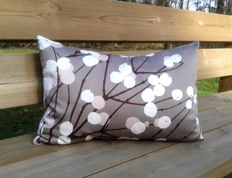 Modern pillow cover from Marimekko fabric Lumimarja