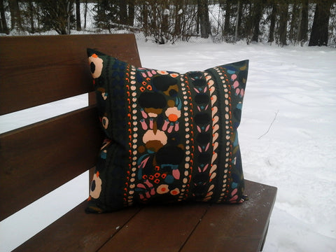 Modern accent pillow cover from Marimekko fabric Tuppurainen