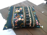 Scandinavian throw pillow from Marimekko fabric Tuppurainen