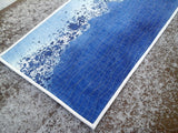 Scandinavian wall art from Marimekko fabric Luovi in blue