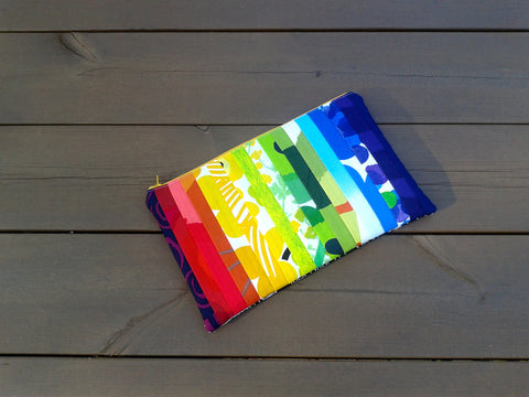 iPad cover from Marimekko fabric in rainbow colors