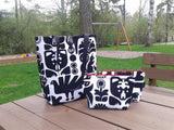 Tote bag and zipper pouch from Marimekko fabric Kanteleen Kutsu by NordicCrafter