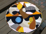 Round quilted table topper from Marimekko linen fabric Britta Maj by NordicCrafter