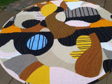 Scandinavian quilted table decor from Marimekko linen fabric Britta Maj by NordicCrafter