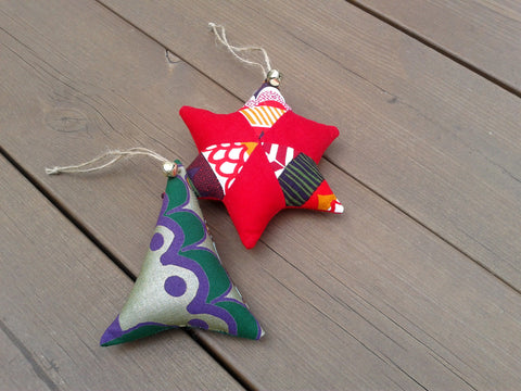 Scandinavian Christmas ornaments from Marimekko fabric by NordicCrafter