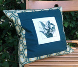 Rustic flower pillow cover