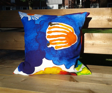 Modern pillow from Marimekko fabric Juhannustaika