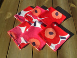 6 table napkins from Marimekko fabric Unikko