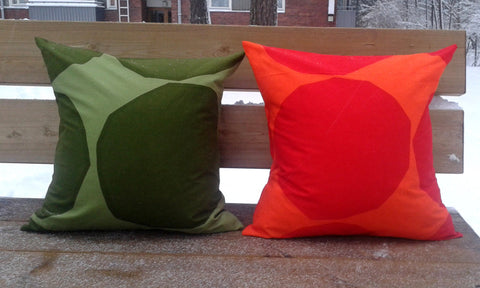 Modern pillow from Marimekko fabric Kivet