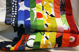 Striped quilt made from Marimekko fabric