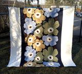 Modern quilt made from Marimekko fabric