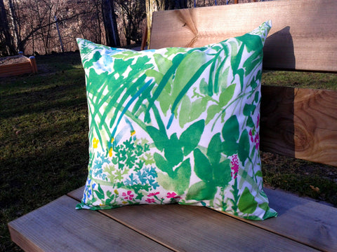 Pillow cover from Marimekko fabric Kesäntö