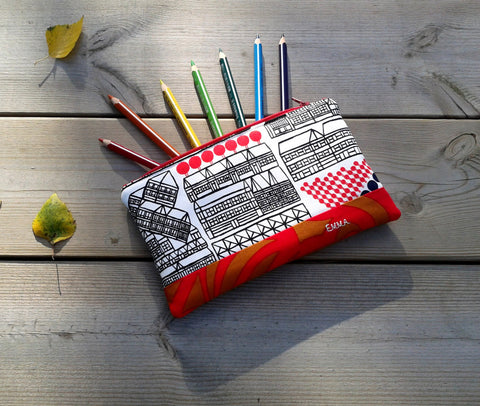 Personalized pencil case from Marimekko fabric