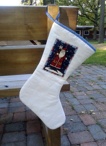 Scandinavian Linen Christmas stocking