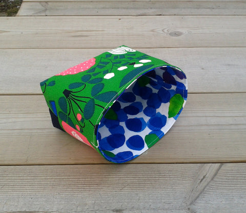 Fabric basket made from Marimekko fabric