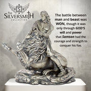 Samson & the Lion Silver Statue - Heads or Tales Coins & Collectibles