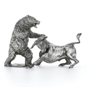 Troy the Silver Bull & Ozzy the Silver Bear Set Silver Statue - Heads or Tales Coins & Collectibles