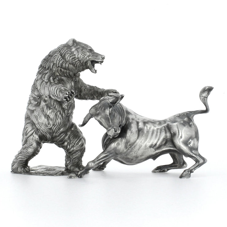 Troy the Silver Bull & Ozzy the Silver Bear Set