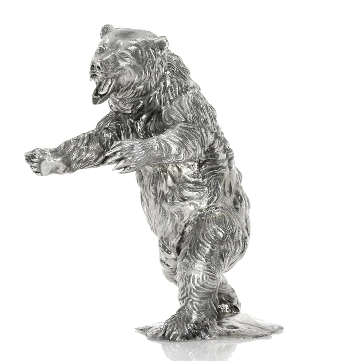 Ozzy the Silver Bear Silver Statue - Heads or Tales Coins & Collectibles