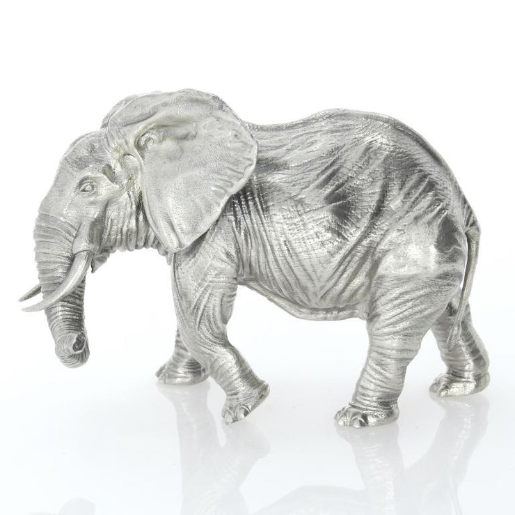 The Majestic Five: African Elephant Silver Statue - Heads or Tales Coins & Collectibles