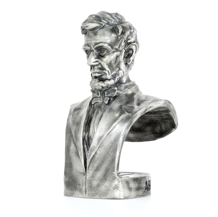 Presidential Bust #16 - Abraham Lincoln Silver Statue - Heads or Tales Coins & Collectibles