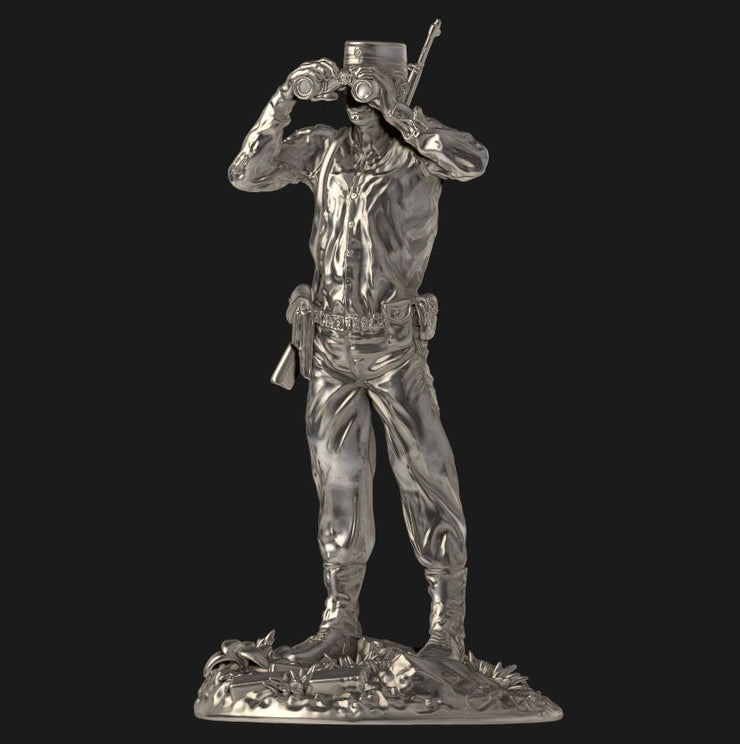 Silver Army Men Silver Statue - Heads or Tales Coins & Collectibles
