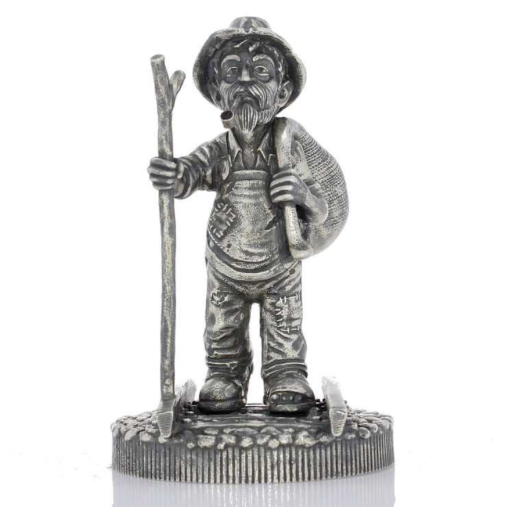 The Walking Hobo - Silver Statues