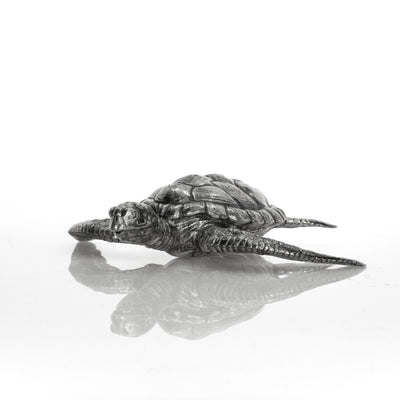 Hawksbill Sea Turtle Silver Statue - Heads or Tales Coins & Collectibles