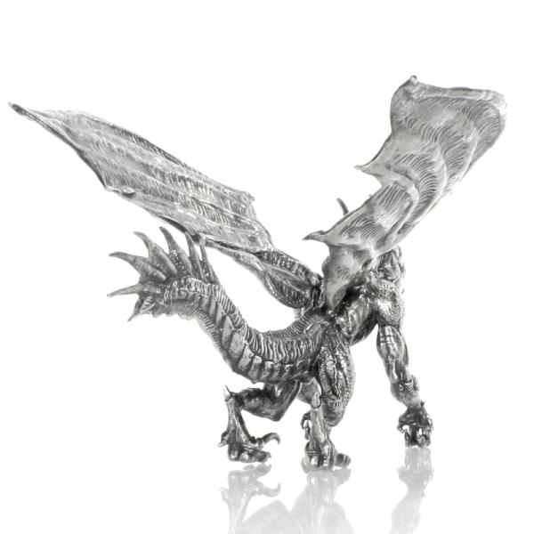 Brutus the Dragon Silver Statue - Heads or Tales Coins & Collectibles