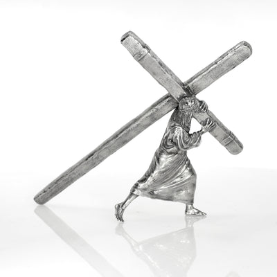 The Passion: The Cross He Bears Silver Statue - Heads or Tales Coins & Collectibles