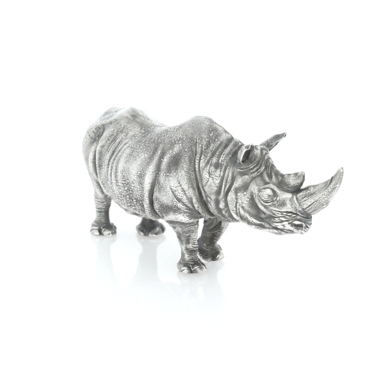 The Majestic Five: African Rhino Silver Statue - Heads or Tales Coins & Collectibles