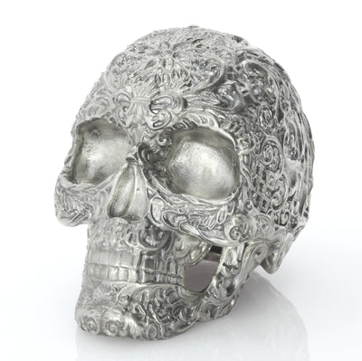 Skull of the Dead Silver Statue - Heads or Tales Coins & Collectibles