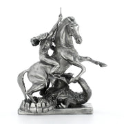 St George & the Dragon Silver Statue - Heads or Tales Coins & Collectibles