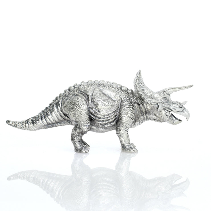 Triceratops Silver Statue - Heads or Tales Coins & Collectibles