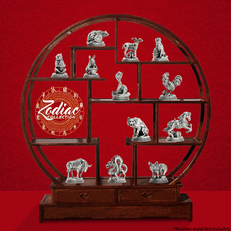 The Zodiac Collector's Set Silver Statue - Heads or Tales Coins & Collectibles