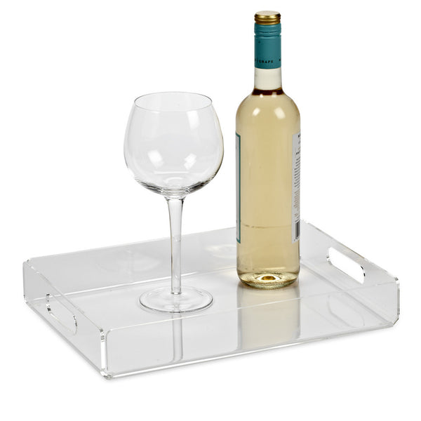 Large Acrylic Square Tray 16""