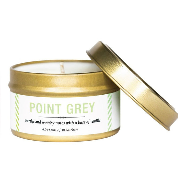 Point Grey Tin Candle