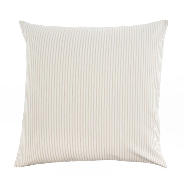 Beige Ticking Cushion Feather 24x24