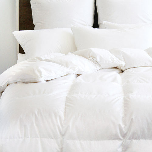 Devonshire Canadian Hutterite White Goose Down Duvet <br> Light Weight