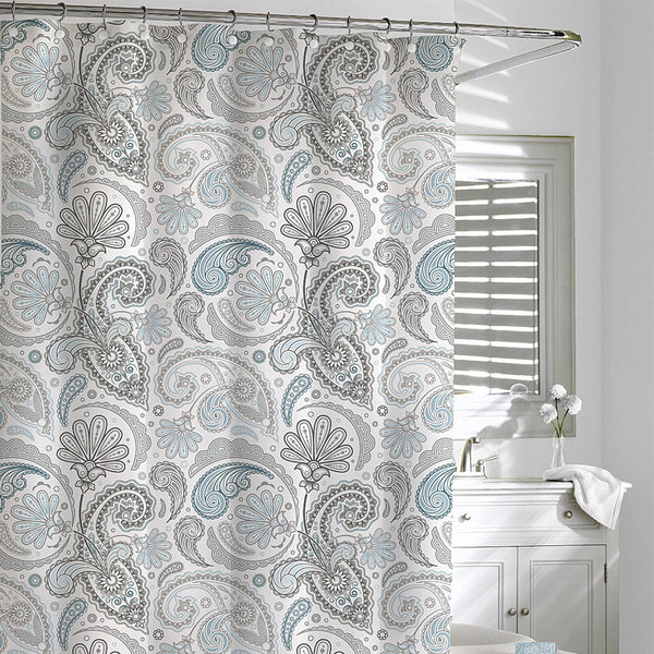 Paisley Shower Curtain Blue/Grey