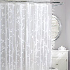 Birch Peva Shower Curtain White - Rothman & Co.