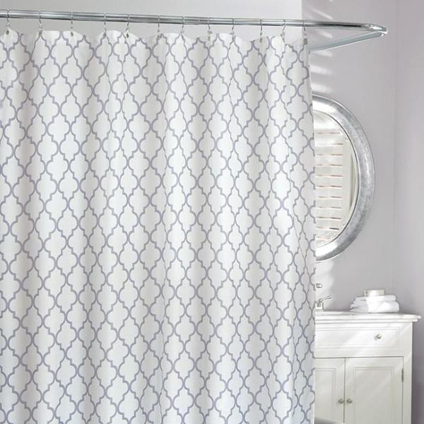 Frette Faux Shower Curtain Ivory Grey