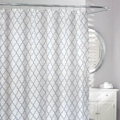 Frette Faux Shower Curtain Ivory/Grey