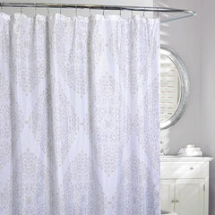 Mosaic S/C Shower Curtain White/Grey - Rothman & Co.
