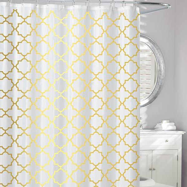 Windsor Peva Shower Curtain Gold