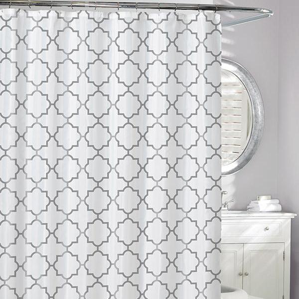 Windsor Peva Shower Curtain Silver