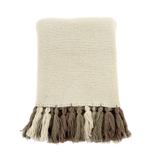 Chunky Tassel Throw Natural