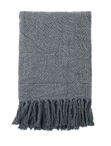 Grey Stone Washed Cotton Throw